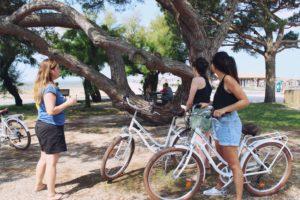 Balades tchanquées à vélo Andernos Tourisme