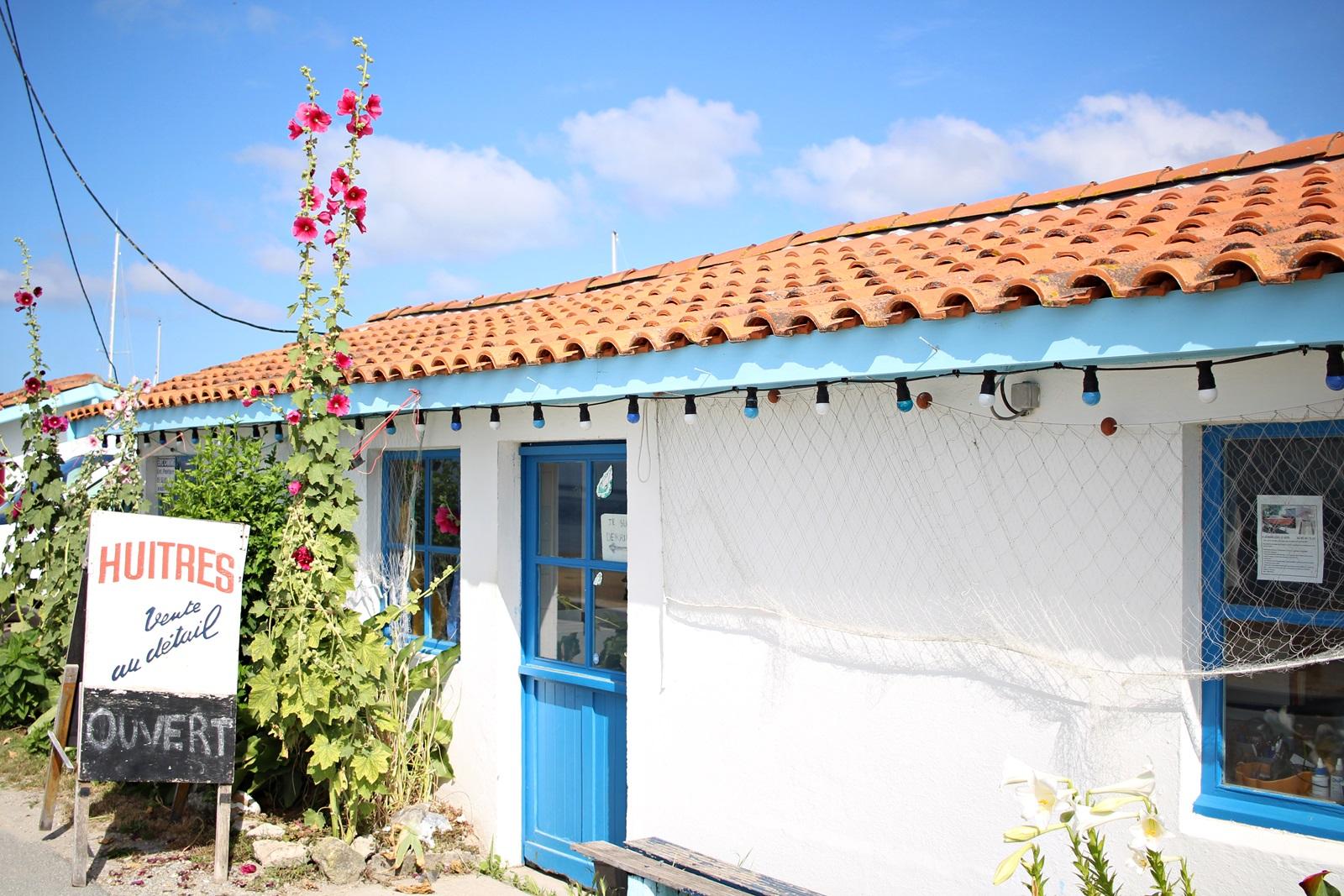 Cabane ostréicole colorée et fleurie