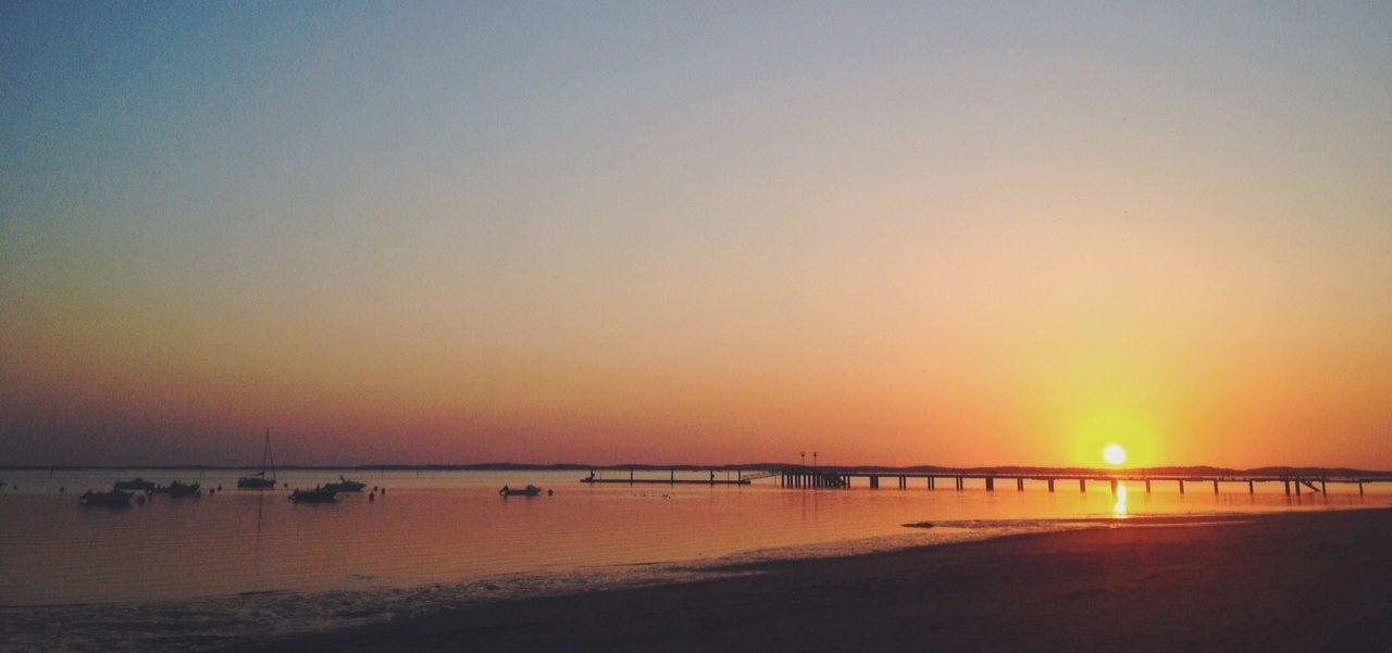 Coucher de soleil plage du Bétey